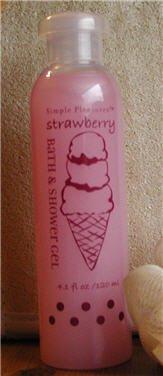 Simple Pleasures Bath & Shower Gel Wash - Candy Scents - Strawberry