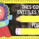 Teachers! Black Board Basics *50* AWARD COUPONS Lot Set