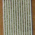 Self-Adhesive Sticker Borders - GLITTER STRIPES GOLD - Great for scrapbooking and more!