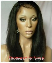 "14"" #2 Yaki Straight---Premium Indian Remy Full Lace Wig"