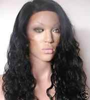 "12"" #1b---Curly/Deep Wave 100% Indian Remy Full Lace Wig"