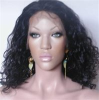 """16"""" #1B---Body Wave 100% Indian Remy Full Lace Wig"""