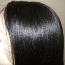 "14"" Full Lace Wig, 100% Indian Remy Silky Straight #1 Jet Black"