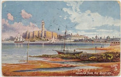 Havana from the Quarries, Havana Cuba,  Tuck 7443 signed Triopham, 1907 postcard    #0125