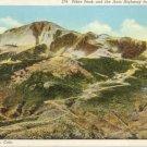 Pikes Peak from Aeroplane Colorado Springs, CO  Postcard #0239