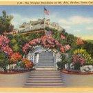 Wrigley Residence on Mt. Ada Avalon Bay Santa Catalina, CA 1940 Postcard #0051