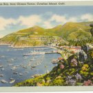 View of Avalon Bay from Chimes Tower  Catalina Island California  CA Postcard #0054