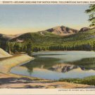 Sylvan Lake and Top Notch Peak, Yellowstone National Park Postcard  1937 WY #0074