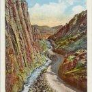 Cliffs Entrance Big Thompson Canon, Rocky Mountain National Park CO Postcard circa 1930s  #0064