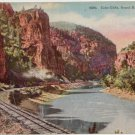 Echo Cliffs, Grand River Canon, CO Train tracks circa 1915 #0170