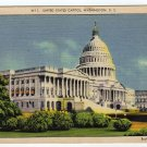 UNITED STATES CAPITOL, Washington, D.C. Postcard Linen Buckingham Studio Inc.  circa 1930s #0307