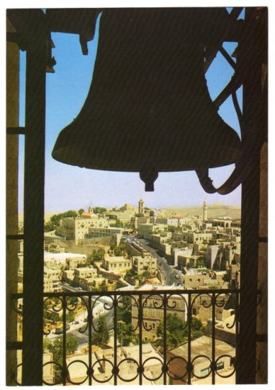 Bethlehem - Partial View  from a bell tower Postcard Israel   #0321