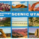 Greetings from Scenic Utah Multi-view Plastichrome Postcard  #0333