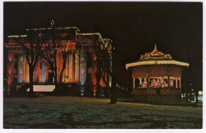Yavapai County Courthouse  Prescott, AZ  Christmas decorations Carousel Postcard #0336