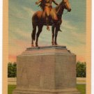 Dallin's Appeal to the Great Spirit Indian Statue Art Museum Boston MA Linen Postcard  #0342