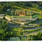 Hotel Hershey  Birds eye view of the front entrance   Hershey, PA Postcard 1988 #0358