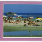 Sightseeing boat and tidal pool with sunbathers and swimmers WILDWOOD BEACH, N.J. Postcard  #0371