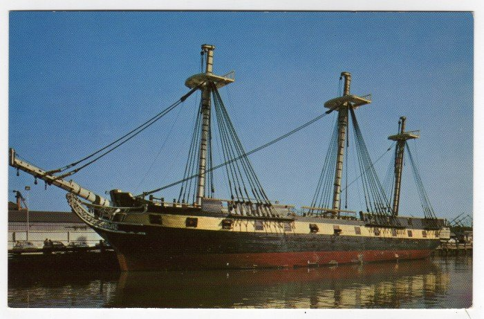 The Frigate Constellation Baltimore, MD postcard #0381