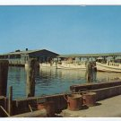 Passenger and Mail Boats Dock at Crisfield Harbor MD photo by C. H. Ruth Plastichrome postcard #0390