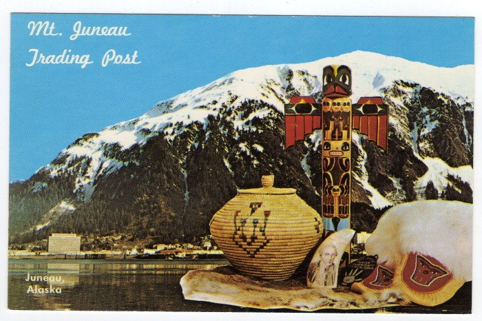 Mt. Juneau Trading Post Juneau, AK Postcard photo Mike Affleck  #0393