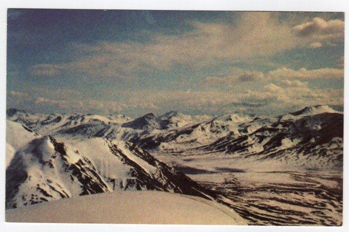 Brooks Range Alaska View from North Slope of Itkillik River Valley Vintage postcard  #0394