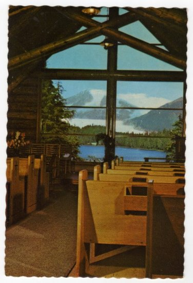Chapel by the Lake, Auke Bay, AK Mendenhall Glacier  Photo Howard C. Robinson photo  #0406