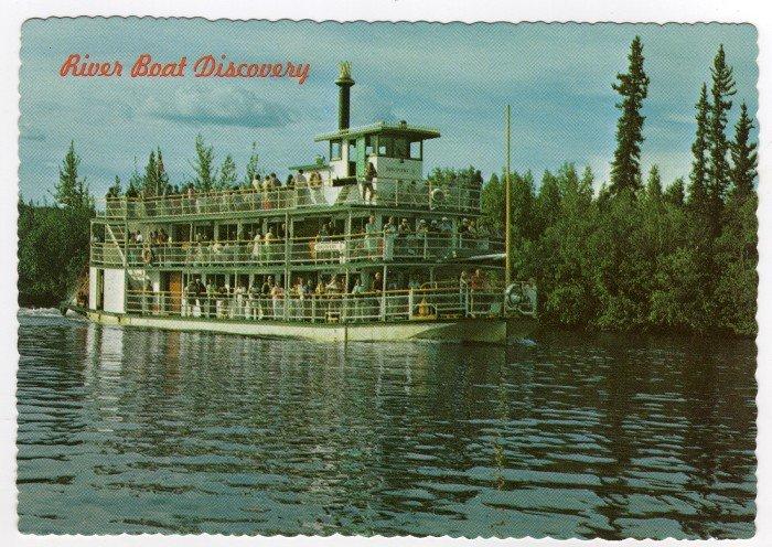 River Boat Discovery, Fairbanks Alaska Postcard   Bruce H. Baker photo  #0408