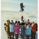 "Blanket Toss - Eskimo Style Postcard Alaska Airlines Photograph ""alaska joe"" ORIGINAL #0410"