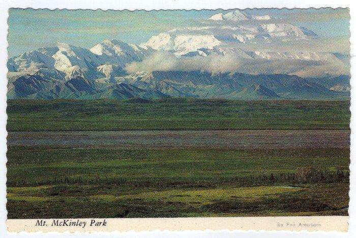 "Mt. McKinley Park Alaska Postcard by Pan American ""alaska joe"" ORIGINAL #0414"