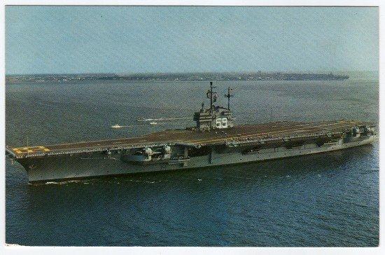 U.S.S. Forrestal Cv-59 Postcard   c. 1960