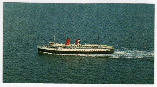 Princess Patricia cruise ship underway  Postcard    photo by C.P.R.