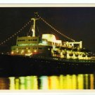 S/S Bermuda Star Postcard Evening Scene with reflected lights Panama Registry