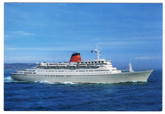 Sagafjord Cunard cruise ship  Postcard   Registered in the Bahamas