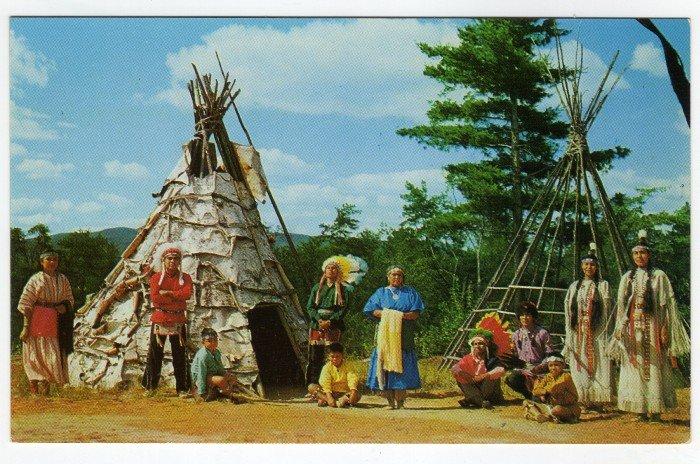 Indian Village, Lake George, N.Y. Vintage Postcard photo Richard K. Dean 1950s  #0436
