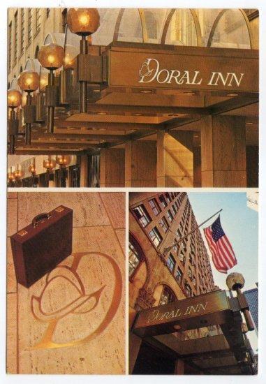Doral Inn Entrance New York City multi-view Postcard  #0438