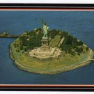 Statue of Liberty aerial view Postcard suitable for framing  #0440