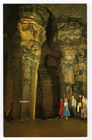 Ruins of Karnak Mammoth Cave Postcard 1950s Mammoth Cave National Park, KY