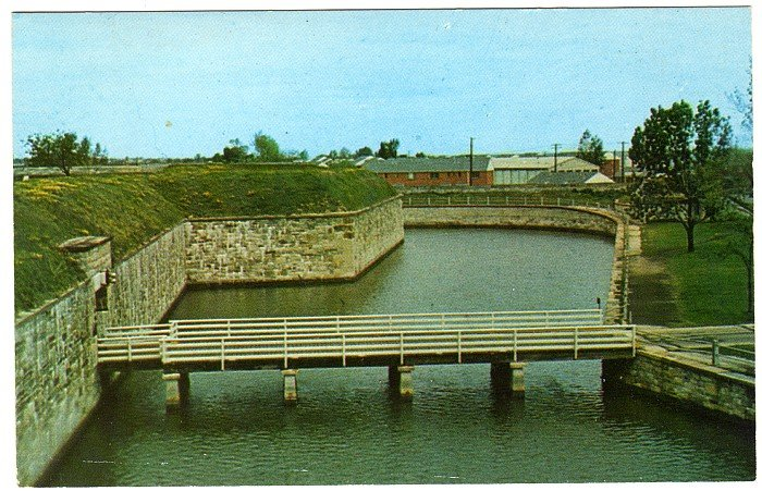East Gate Fort Monroe Postcard  Old Point Comfort VA  Fort Monroe Casemate Museum  #0465