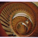 Twin Spiral stairway Micajah Burnett Shakertown Pleasant Hill, KY Postcard Walter H. Miller Photo