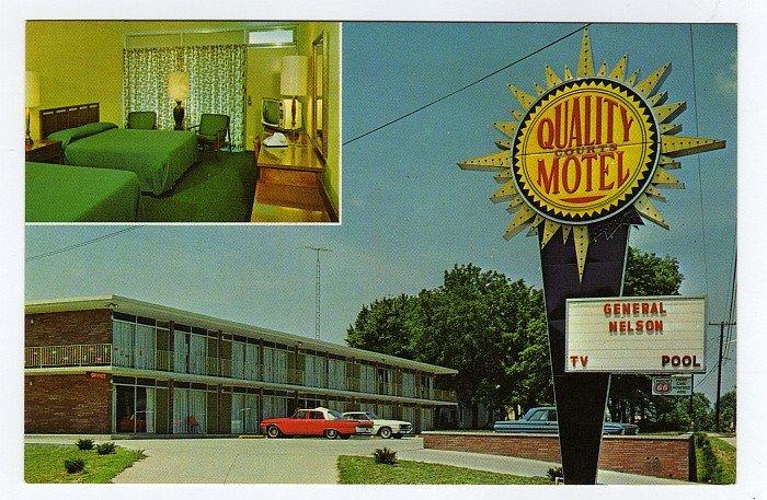 General Nelson Motel Bardstown, KY Quality Motel 1960s Postcard Phillips 66 Neal Cornett photo