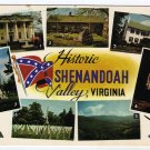 Shenandoah Valley, VA Postcard Multi-scene Confederate Flag  #0470