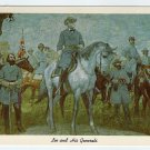 Lee And His Generals Curteich postcard of mural painting by Charles Hoffbauer Richmond VA 1961