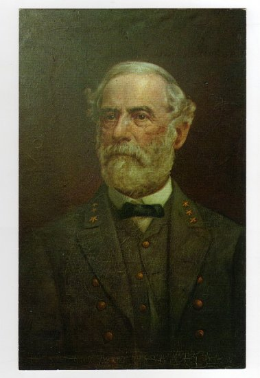 Portrait of General Lee painting by M. S. Nachtrieb  postcard photo by Walter H. Miller
