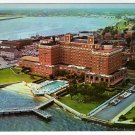 The Chamberlin Hotel Fort Monroe, VA Postcard Aerial View 1960s    #0469