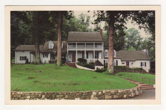 Historic Michie Tavern Charlottesville, VA postcard standard chrome  #0480