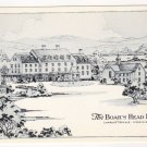 The Boar's Head Inn Charlottesville, VA postcard pen and ink drawing   #0481