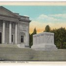 Tomb of Unknown Soldier, Arlington VA Postcard C.T.American linen 1932 #0491