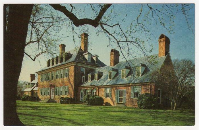 Carter's Grove Plantation, Williamsburg, VA postcard #0492