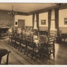 Raleigh Tavern, Apollo Room, Williamsburg, VA postcard Lincoln Sepia #0493
