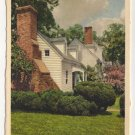 St. George Tucker House, Williamsburg, VA postcard Swiss Made white border #0495